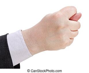 -, do góry, ręka, strój, zamknięcie, znak, bok, gest, prospekt