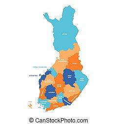 -, finlandia, okolice, mapa