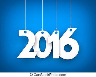 -, rok, nowy, tło, 2016