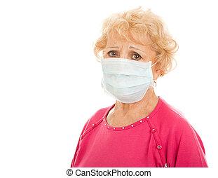 -, starsza kobieta, epidemia