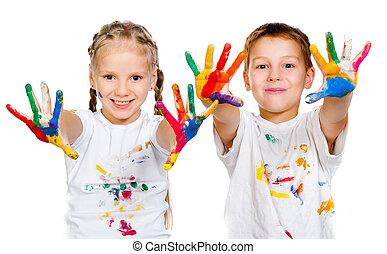 0bhands, malować, dzieciaki, 0b