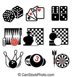 1, gra, część, ikony
