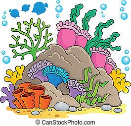 1, koral, temat, wizerunek, rafa
