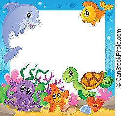 1, podwodny, ułożyć, zwierzęta