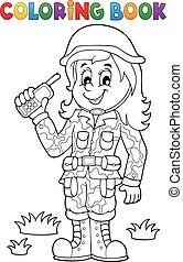 1, samica, temat, kolorowanie, żołnierz, książka