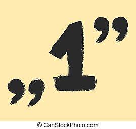 1, symbol, znaki, cytat, jeden