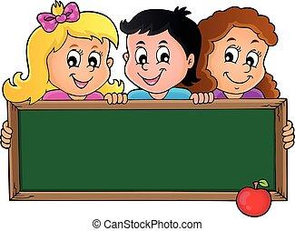 1, temat, dzieci, dzierżawa, schoolboard