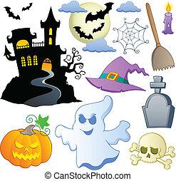 1, temat, halloween, zbiór