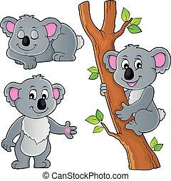 1, temat, koala, zbiór