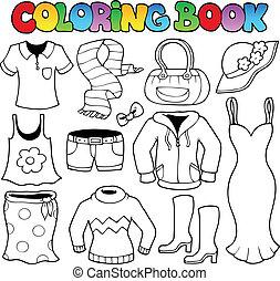 1, temat, koloryt książka, odzież