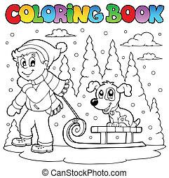 1, temat, koloryt książka, zima