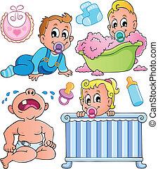 1, temat, niemowlęta, zbiór