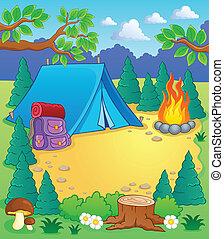 1, temat, obóz, wizerunek