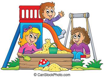 1, wizerunek, temat, plac gier i zabaw