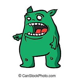 1, zielony potwór