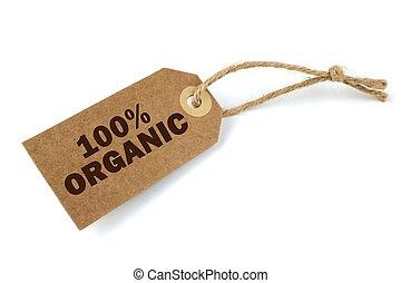 100%, organiczny, etykieta