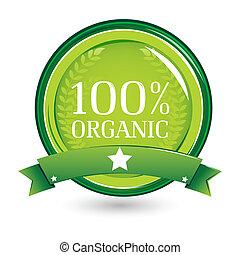 100%, organiczny