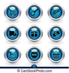 11, seria, -, zakupy, ikona
