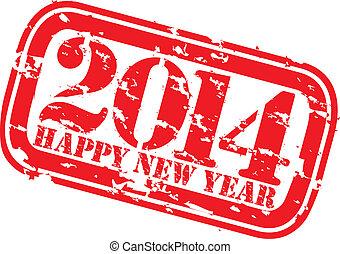 2014, grunge, szczęśliwy, nowy, s, ścierka, rok