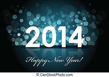 2014, szczęśliwy, -, nowy rok