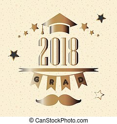 2018, klasa, skala, złoty, rok