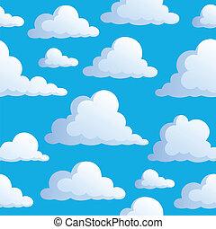 3, chmury, seamless, tło