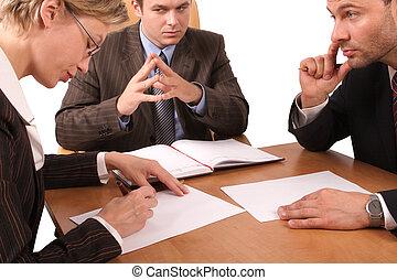 3, spotkanie, handlowy
