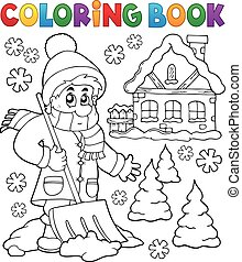 3, temat, zima, koloryt książka