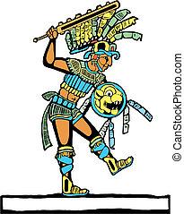 #3, wojownik, mayan