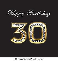 30, urodziny, szczęśliwy