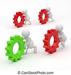 3d, pojęcie, mechanizmy, powodzenie, ludzie