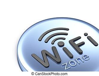 3d, pojęcie, zone., wifi