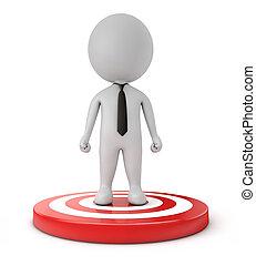 3d, sprytny, biznesmen, tarcza, people-