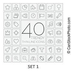 40, 1., komplet, icons., kreska, cienki