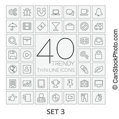 40, 3., komplet, icons., kreska, cienki