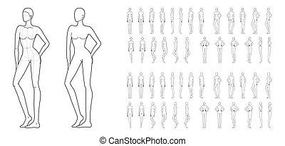 50, fason, women., szablon