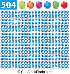 504, połyskujący, ikony