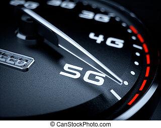 5g, szybkościomierz, rozwój
