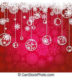 8, holiday., zima, karta, eps, boże narodzenie