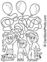 8, kolorowanie, dzieci, książka, zdezorientować