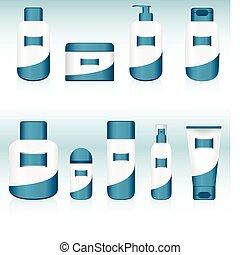 9, containers., komplet, kosmetyczny