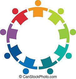 9, logo, wizerunek, koło, drużyna