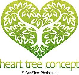 abstarct, serce, drzewo
