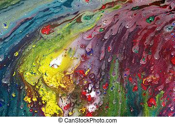 abstrakcyjne malarstwo, mokry