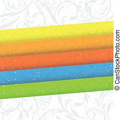 abstrakcyjny, barwny, handlowy, tło, karta