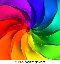 abstrakcyjny, barwny, kręcił, tło