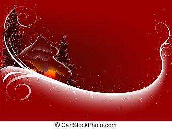 abstrakcyjny, boże narodzenie, czerwony