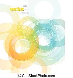 abstrakcyjny, circles., ilustracja
