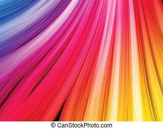 abstrakcyjny, czarne tło, barwny, fale