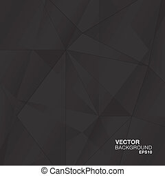 abstrakcyjny, czarnoskóry, geometryczny, diament, v